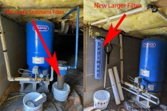 Weaverville Customer Upgrades to Larger Sediment Filter