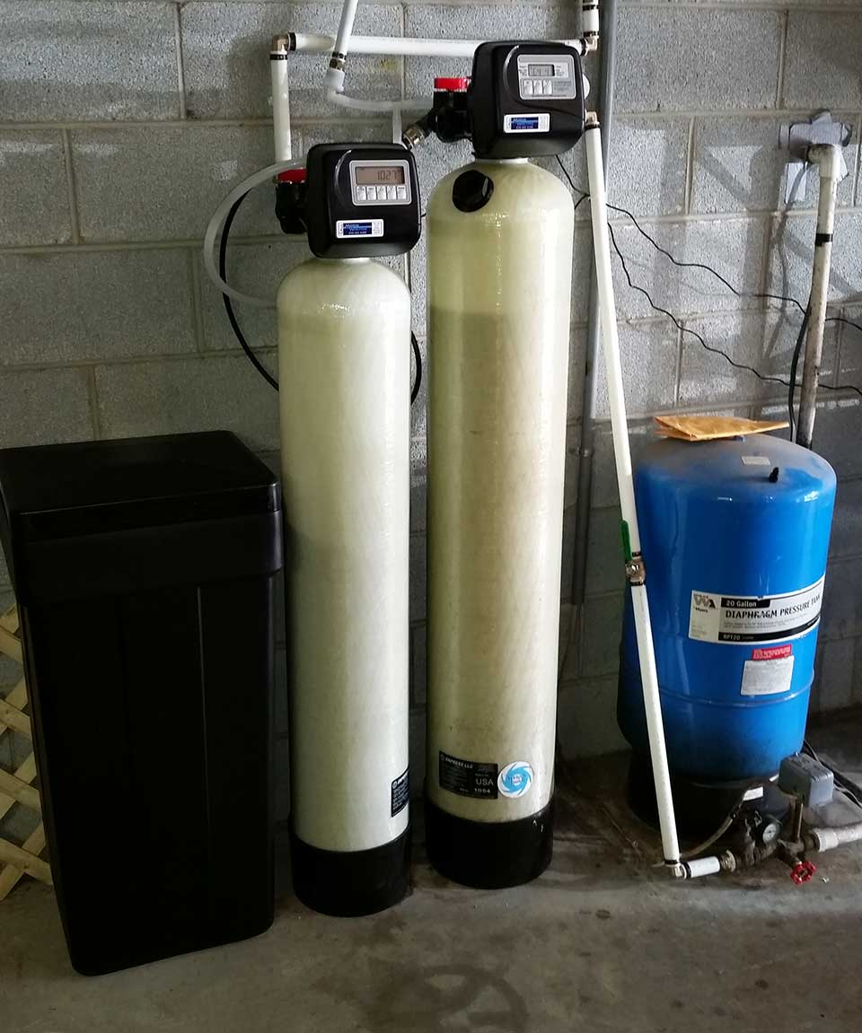 Water softener and neutralizer install