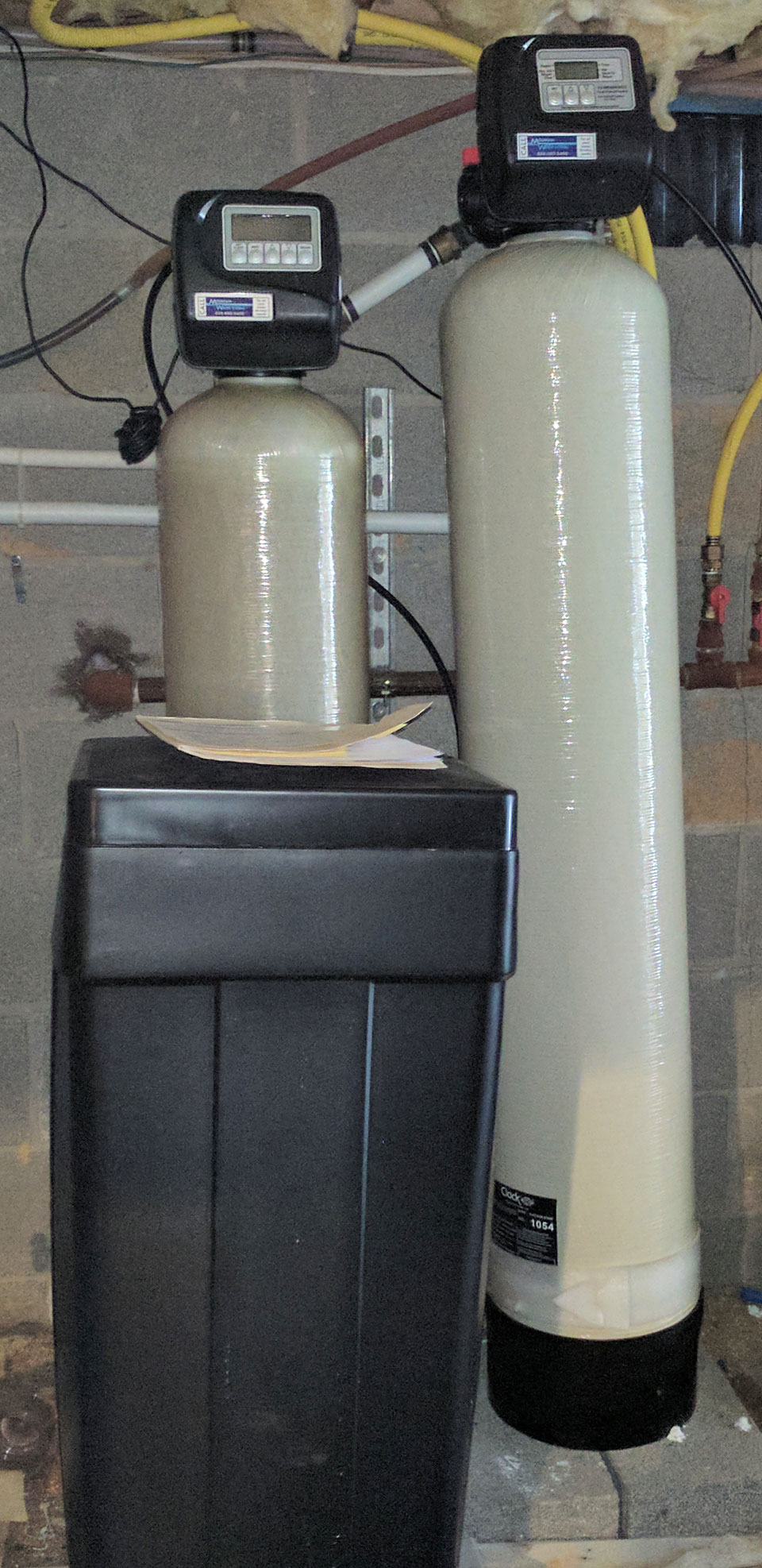 Weaverville Family Gets Softener and Iron Filter