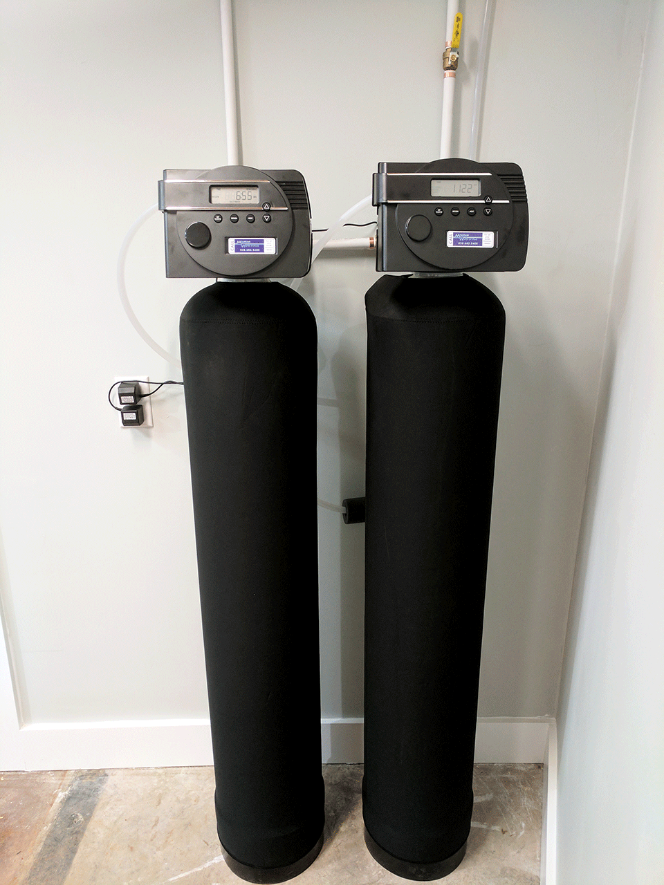 New customer in Black Mountain NC solves the metal tasting water problem with our filtration product! This install consist of our Platinum Series iron filter for the iron water issues they were having, and also neutralizer for low PH reading (acidic water ) issues. Platinum Series is the top of the line water filtration system that we offer and we also believe is the best in the industry. All components are American Made which supports American jobs and workers. The Platinum Series is fully programmable and has an extensive and reliable battery backup system. The new customers are euphoric with the water after the install. They were a referral from an existing long-time customer of Mountain Water Systems.