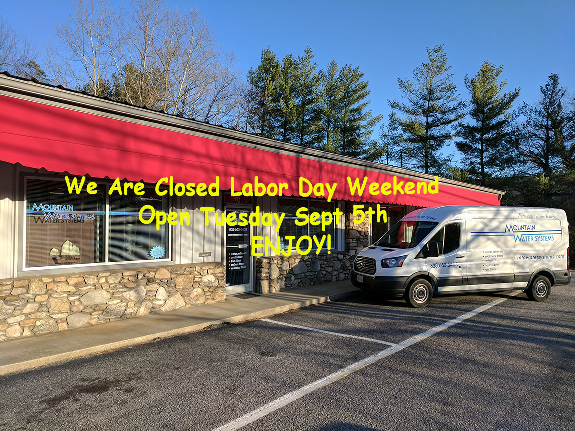 Mountain Water Systems Closed For Labor Day