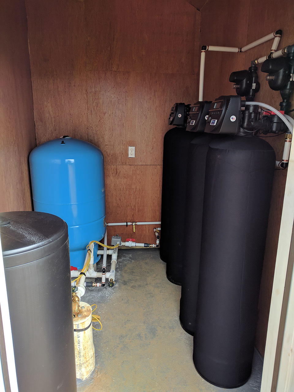 Side View Of The Bryson City Water Filteration Setup