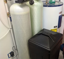 Burnsville Customer removes iron and hard water