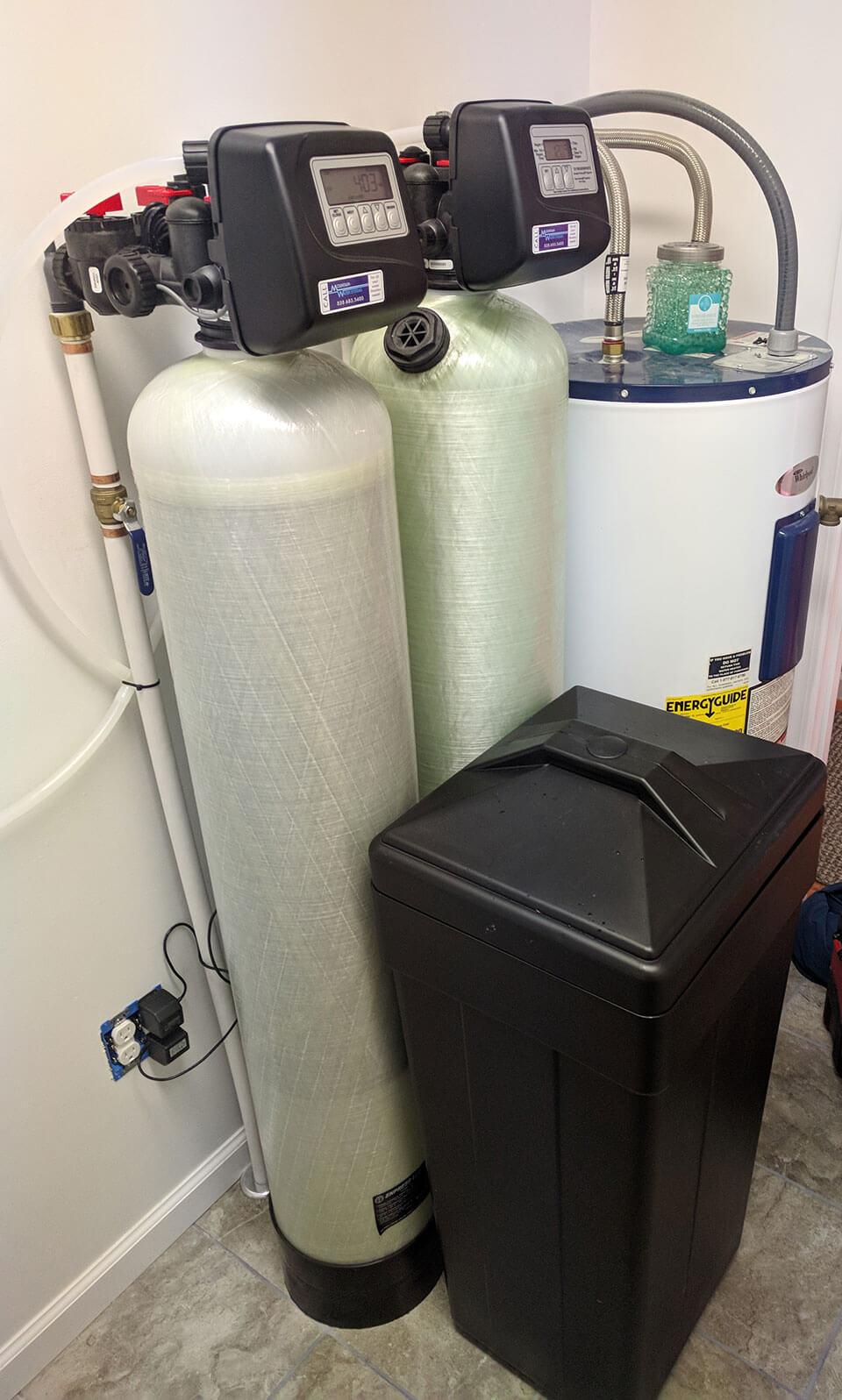 Burnsville Customer removes iron and hard water