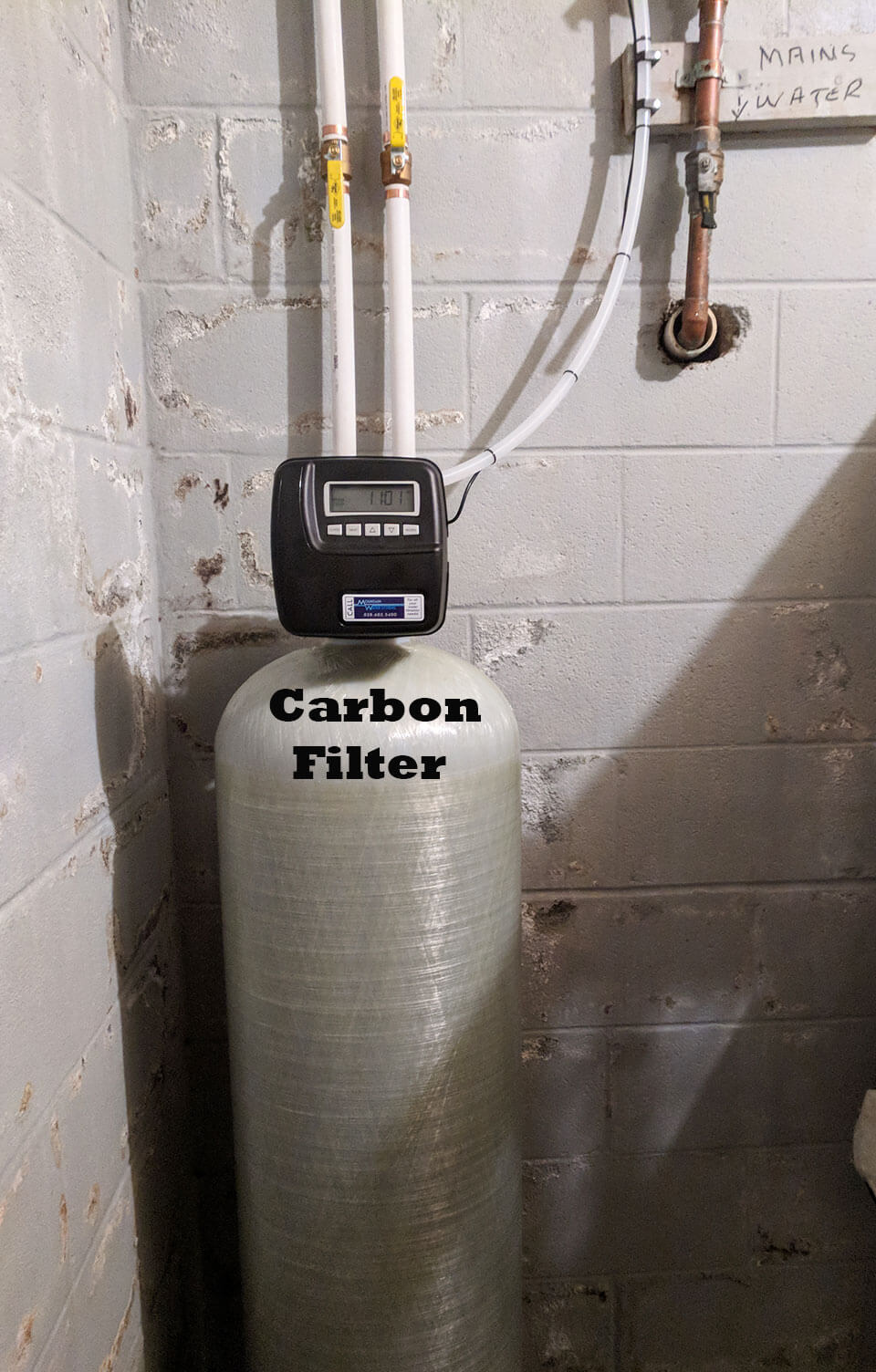 City Water Customer Removes Chlorine With Carbon Filter