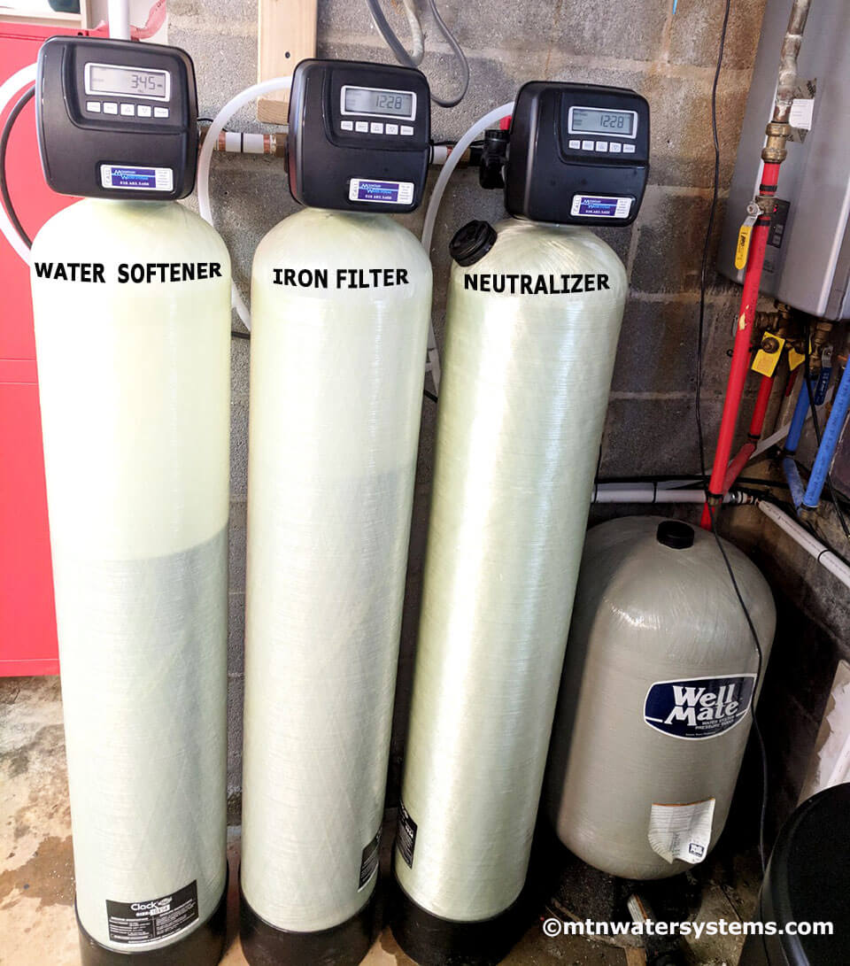 New Iron Filter, Softener and Neutralizer After Testing