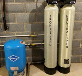 Iron Filter and Neutralizer Protects Family's New Home