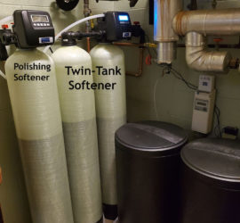Triple Water Softener System Installed in Brewery